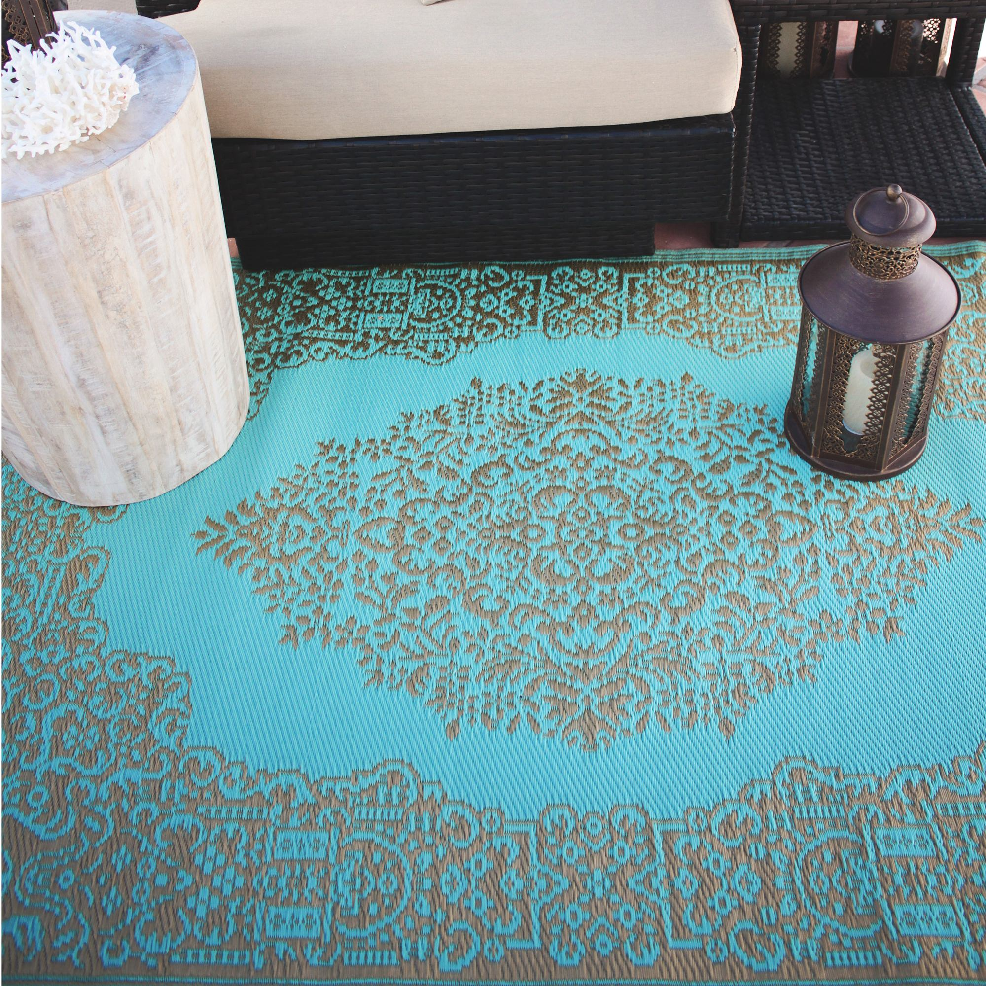 Image result for Istanbul Fair Aqua and Bronze Outdoor Mat