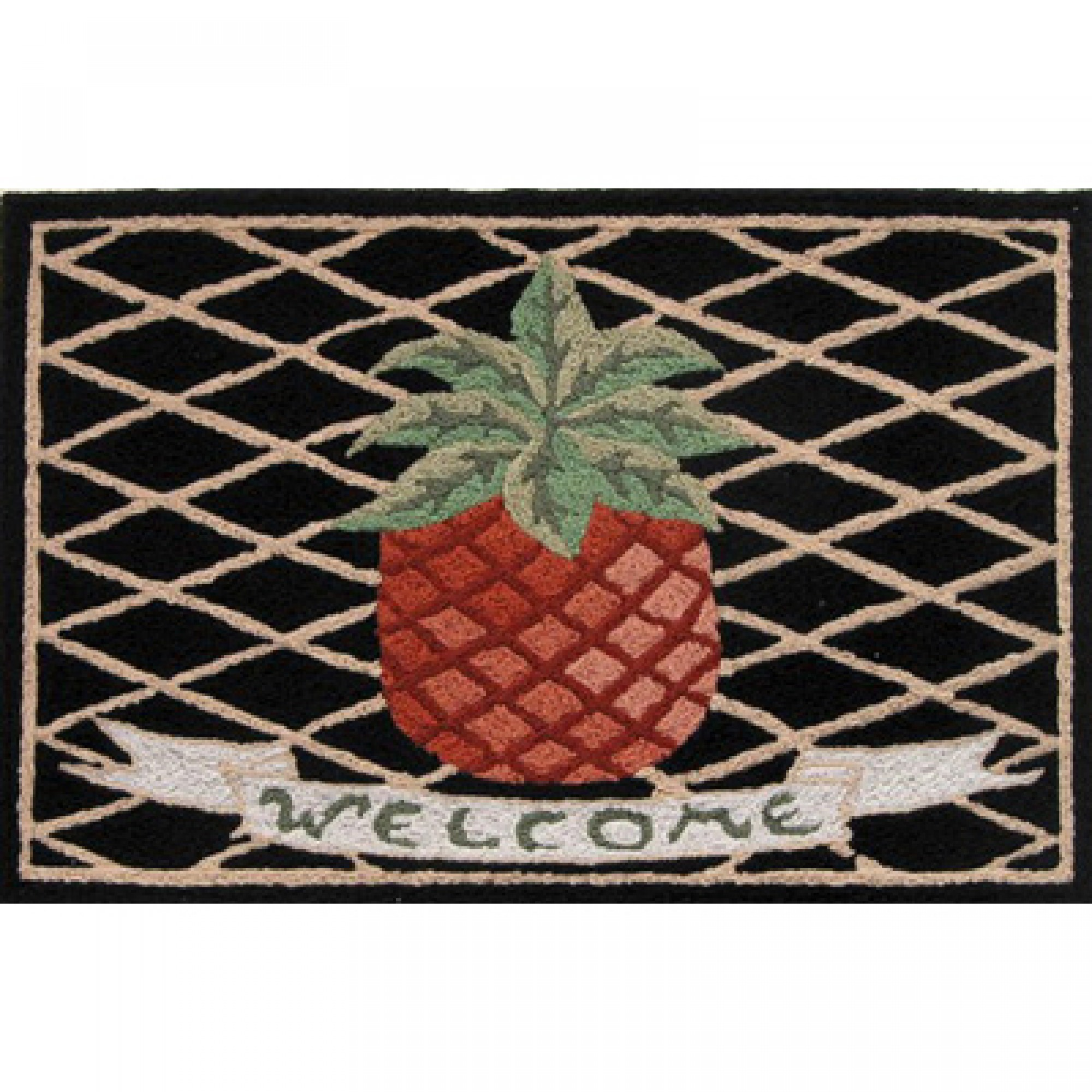 outdoor front door matsShop Jellybean Pineapple Welcome Outdoor Door Mat  Jellybean