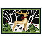 Jellybean Reindeer In White Forest Outdoor Door Mat