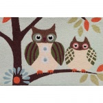 Jellybean Patchwork Owls Outdoor Door Mat