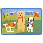 Jellybean Doggy Wash Day Outdoor Door Mat