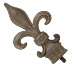 Set of Outdoor Curtain Fleur Design Finials