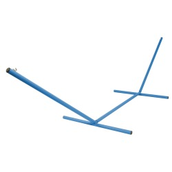 The Ultimate 15 ft. Steel Hammock Stand Made in the USA with Sky Blue Powder Coating