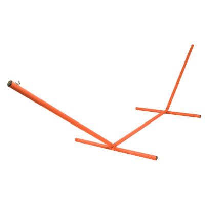 The Ultimate 15 ft. Steel Hammock Stand Made in the USA with Sunset Orange Powder Coating