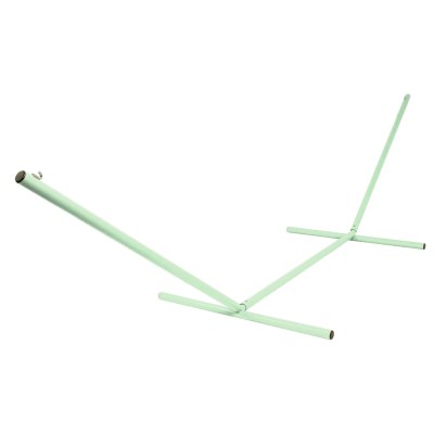 The Ultimate 15 ft. Steel Hammock Stand Made in the USA with Seafoam Green Powder Coating