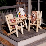 Kids Log Chair Furniture Set in Cedar