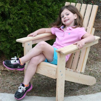 Junior Hometown Exclusive Cypress Rustic Adirondack Chair Square Back