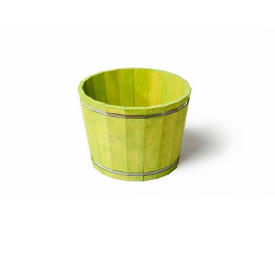 SGC 16 in Wide Barrel in a Box Green Round Planter