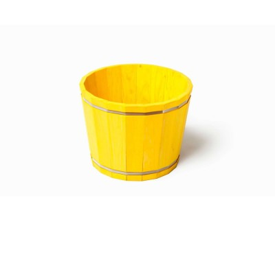 SGC 16 in Wide Barrel in a Box Yellow Round Planter