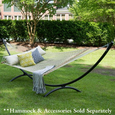 15 ft. Steel Arc Hammock Stand with Cape Shield Powder Coating - Black