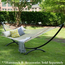 15 ft. Steel Arc Hammock Stand Made in the USA with Cape Shield Powder Coating