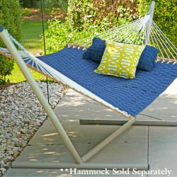Tri-Beam Steel Hammock Stand - Taupe