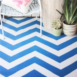 Laguna Regatta Blue and White Outdoor Mat