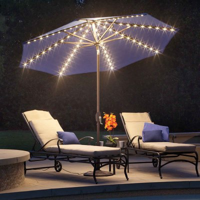 Umbrella Lanai Pro 9 ft. with Starlight Available in 6 Colors