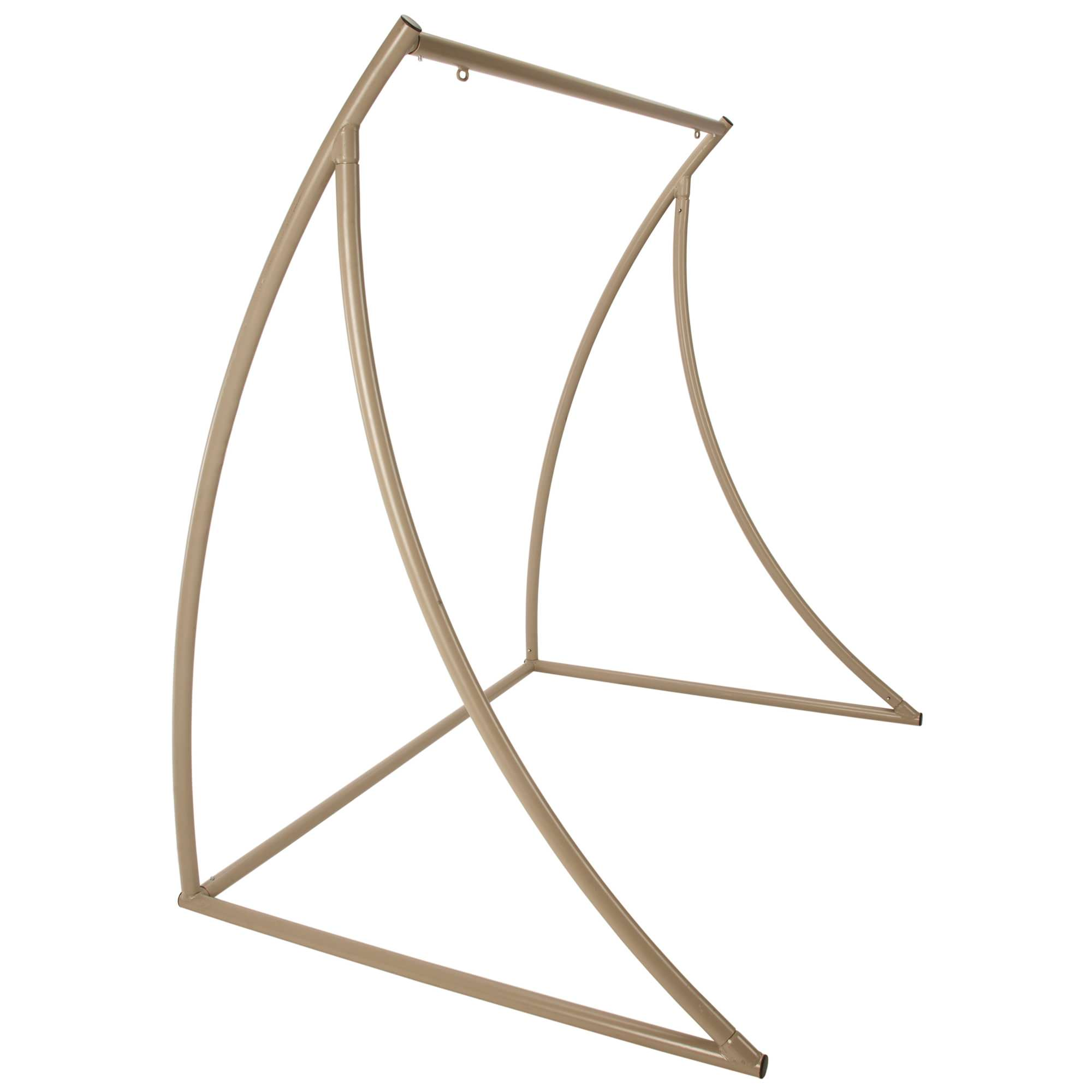 Curved Taupe Metal Double Swing Stand on Sale | SWSC2T | DFOHome