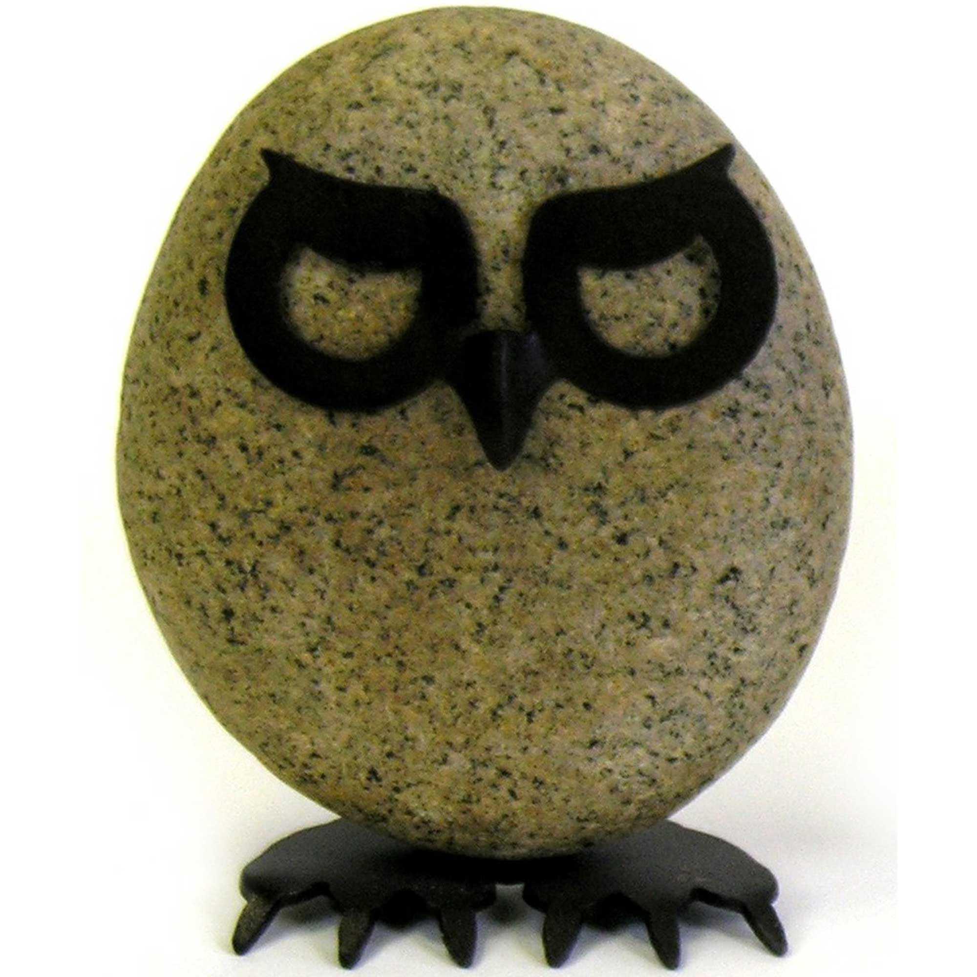 Owl 8 Inch Rock Garden Yard Art Sculpture | DFOHome
