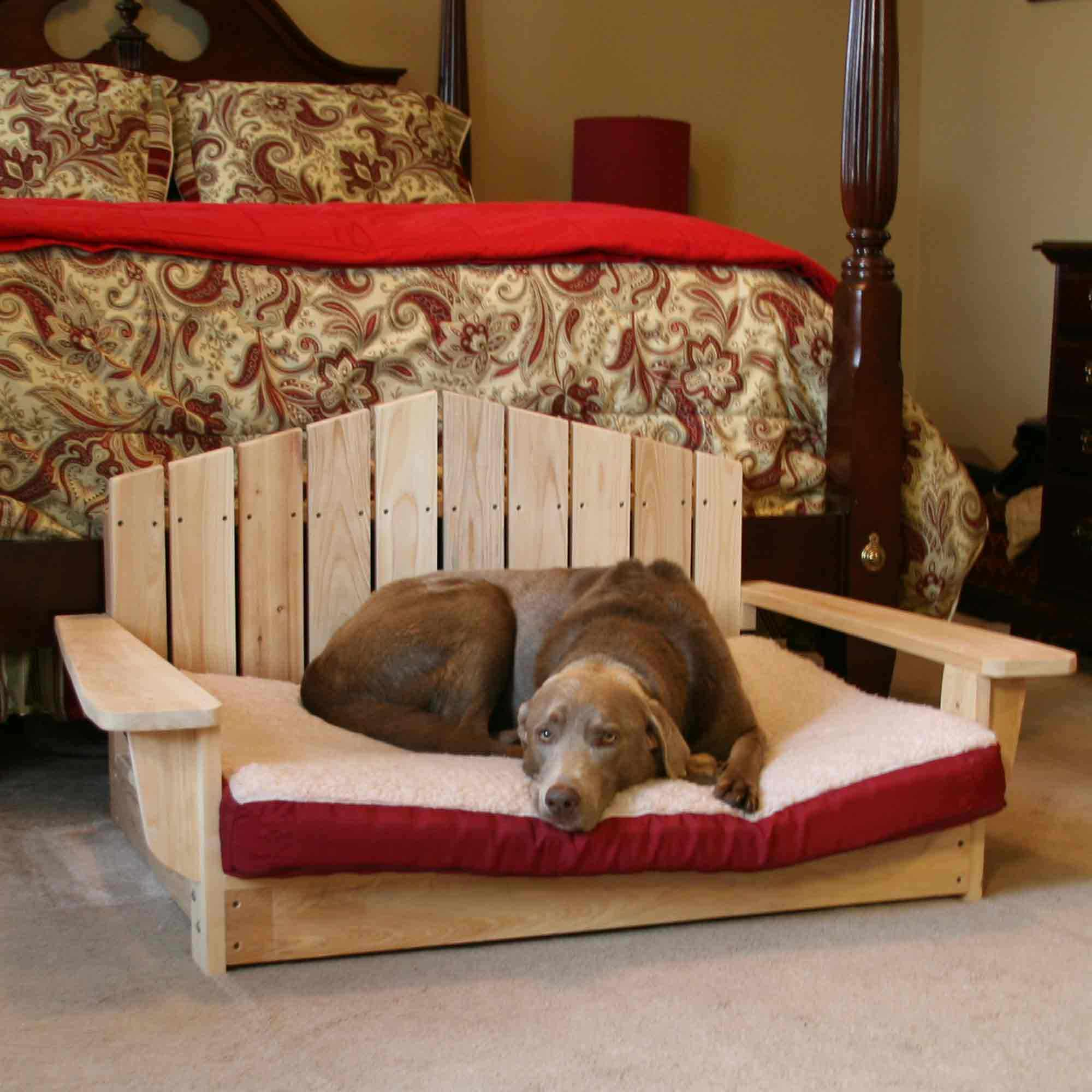 adirondack dog chair pt dogbed lg dog chair dfohome