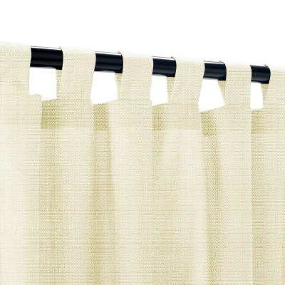 Sunbrella Linen Canvas Outdoor Curtain with Tabs