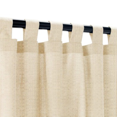 Sunbrella Linen Champagne Outdoor Curtain with Tabs