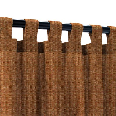 Sunbrella Linen Chili Outdoor Curtain with Tabs