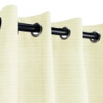 Sunbrella Linen Natural Outdoor Curtain with Nickel Grommets