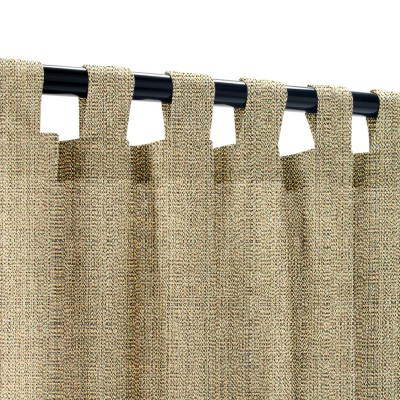 Sunbrella Linen Pampas Outdoor Curtain with Tabs