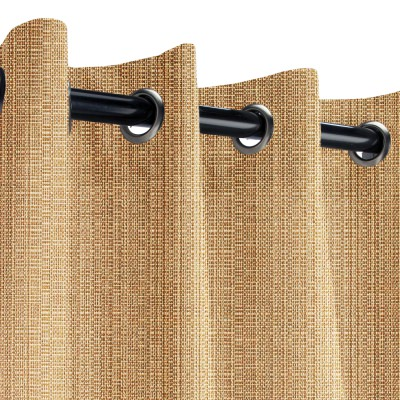 Sunbrella Linen Straw Outdoor Curtain with Grommets