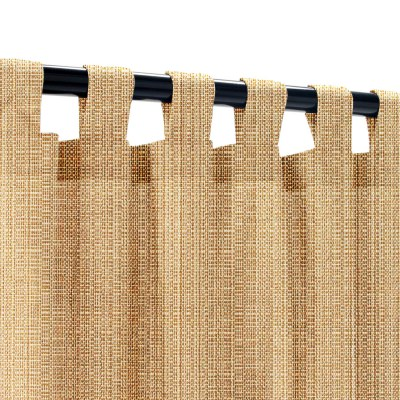 Sunbrella Linen Straw Outdoor Curtain with Tabs