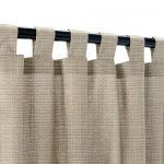 Sunbrella Linen Taupe Outdoor Curtain with Tabs