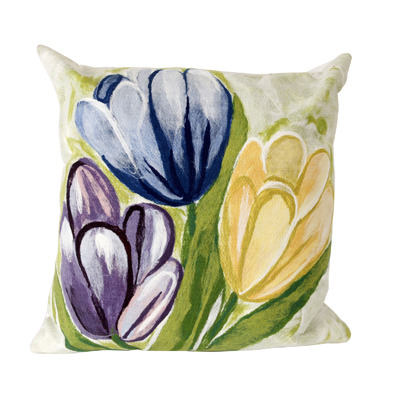 Tulips Cool Outdoor Pillow
