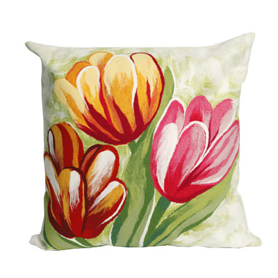 Tulips Warm Outdoor Pillow