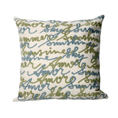 Amour Blue Outdoor Pillow