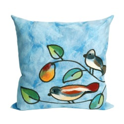 Ombre Tile Cool Outdoor Pillow