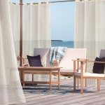 Gold Macie Polyester Outdoor Curtain