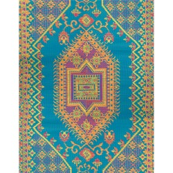 Oriental Turkish Aqua Outdoor Mat