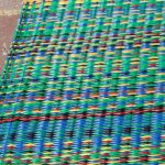 Mixed Rainbow Outdoor Mat 6ft x 9ft