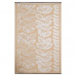 Male Cream and Beige Outdoor Rug