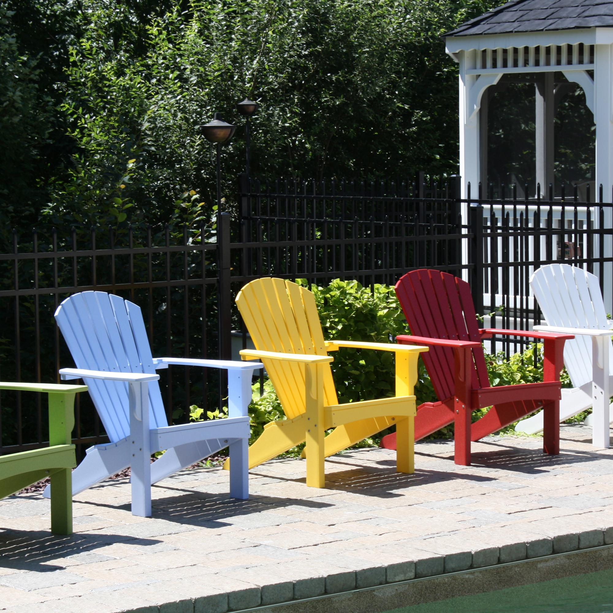 Hyannis Adirondack Chair  Colors DFOHome - Malibu outdoor furniture