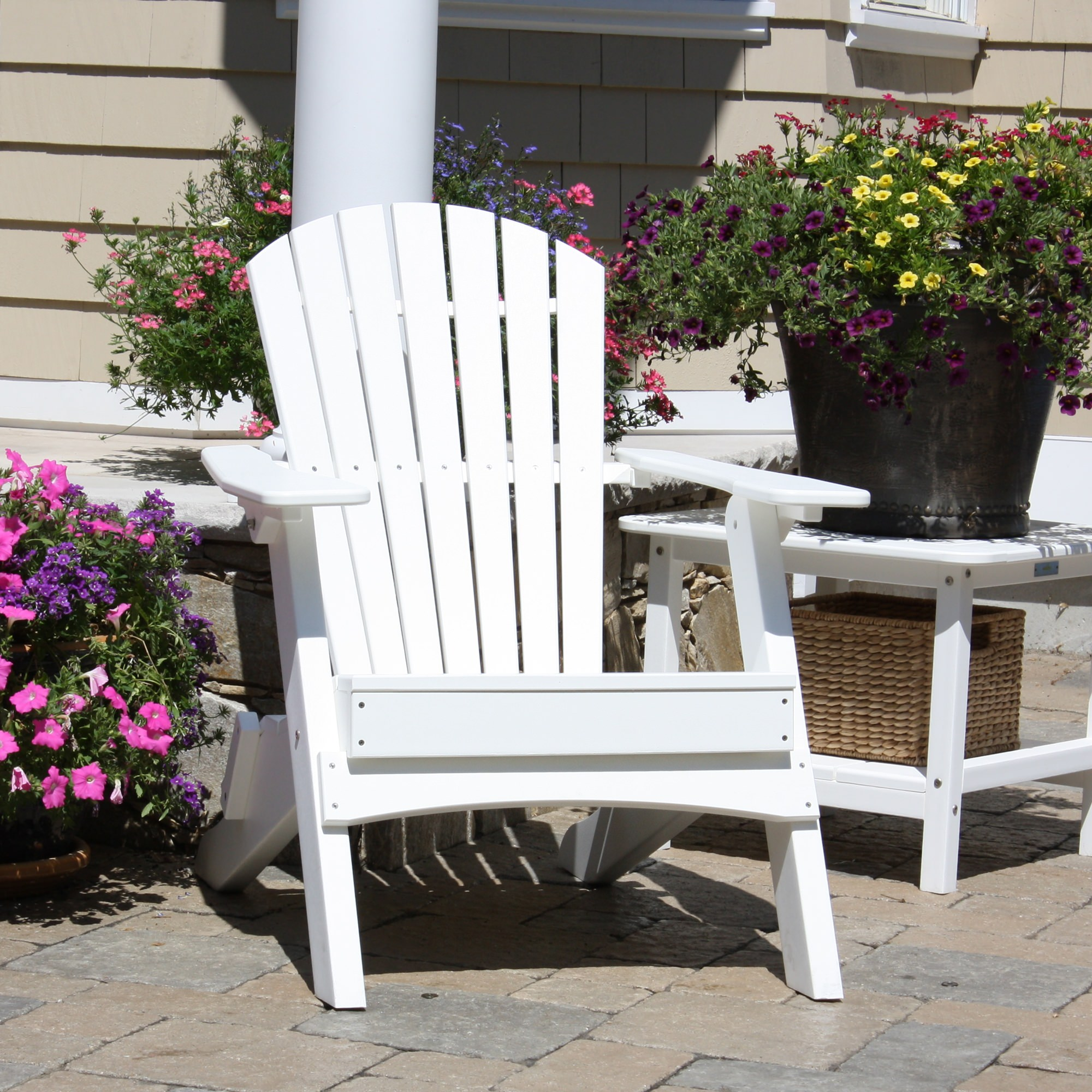 Hyannis Folding Adirondack Chair  Colors DFOHome - Malibu outdoor furniture