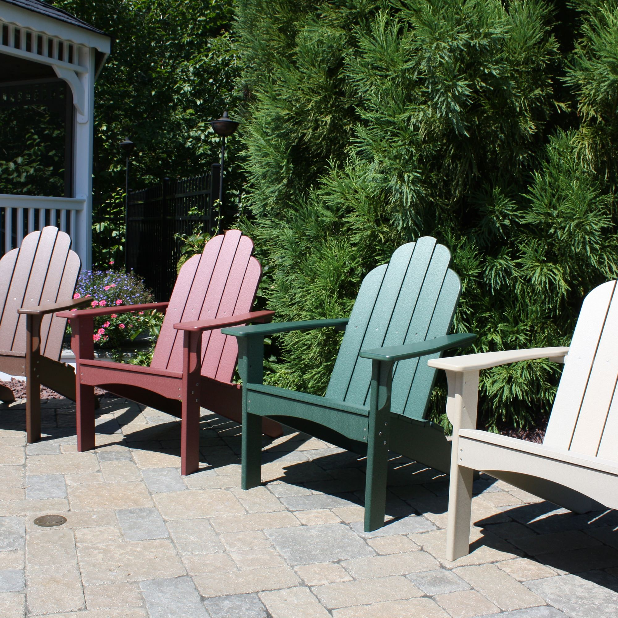Yarmouth Adirondack Chair  Colors DFOHome - Malibu outdoor furniture