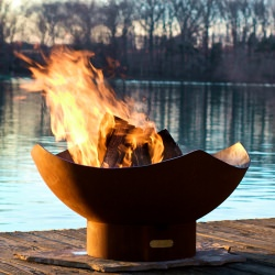 36 in. Steel Manta Ray Fire Pit