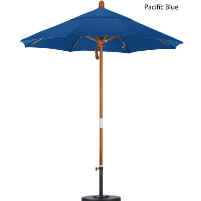 7.5ft. Wood Umbrella with Pulley Lift Available in 10 Colors