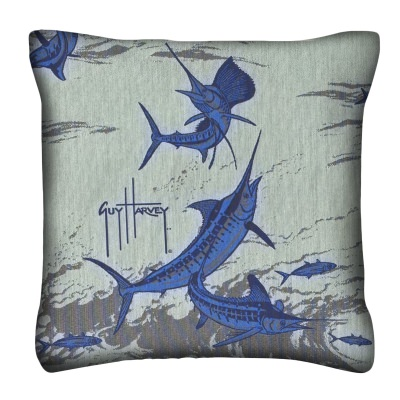 Guy Harvey Outdoors Knife Edge Outdoor Pillow 14in x 14in