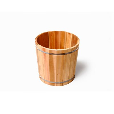 SGC Medium Red Cedar 15in Wide Planter with Plastic Bottom
