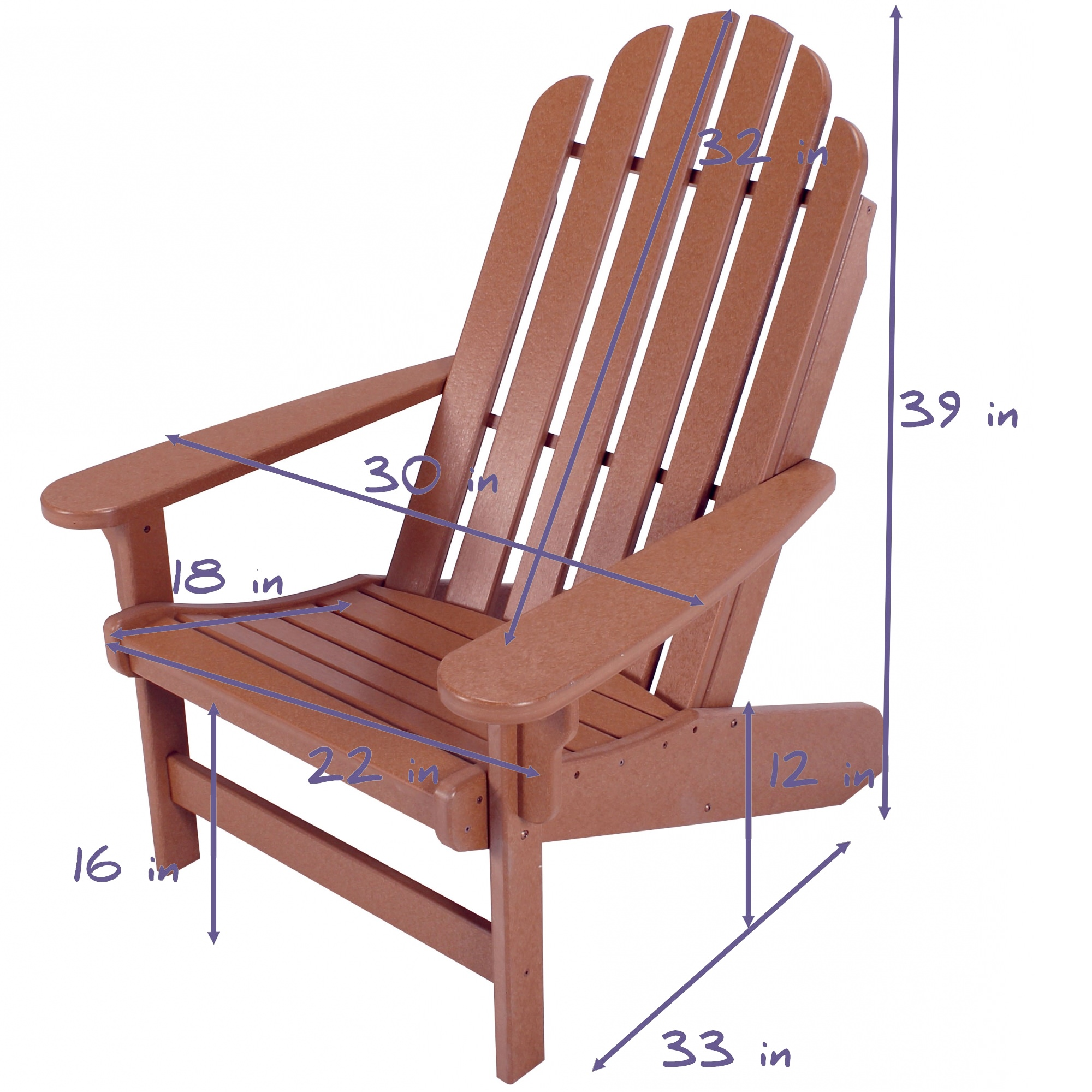 Delightful ... Essentials Chocolate And Weatherwood Durawood Adirondack Chair