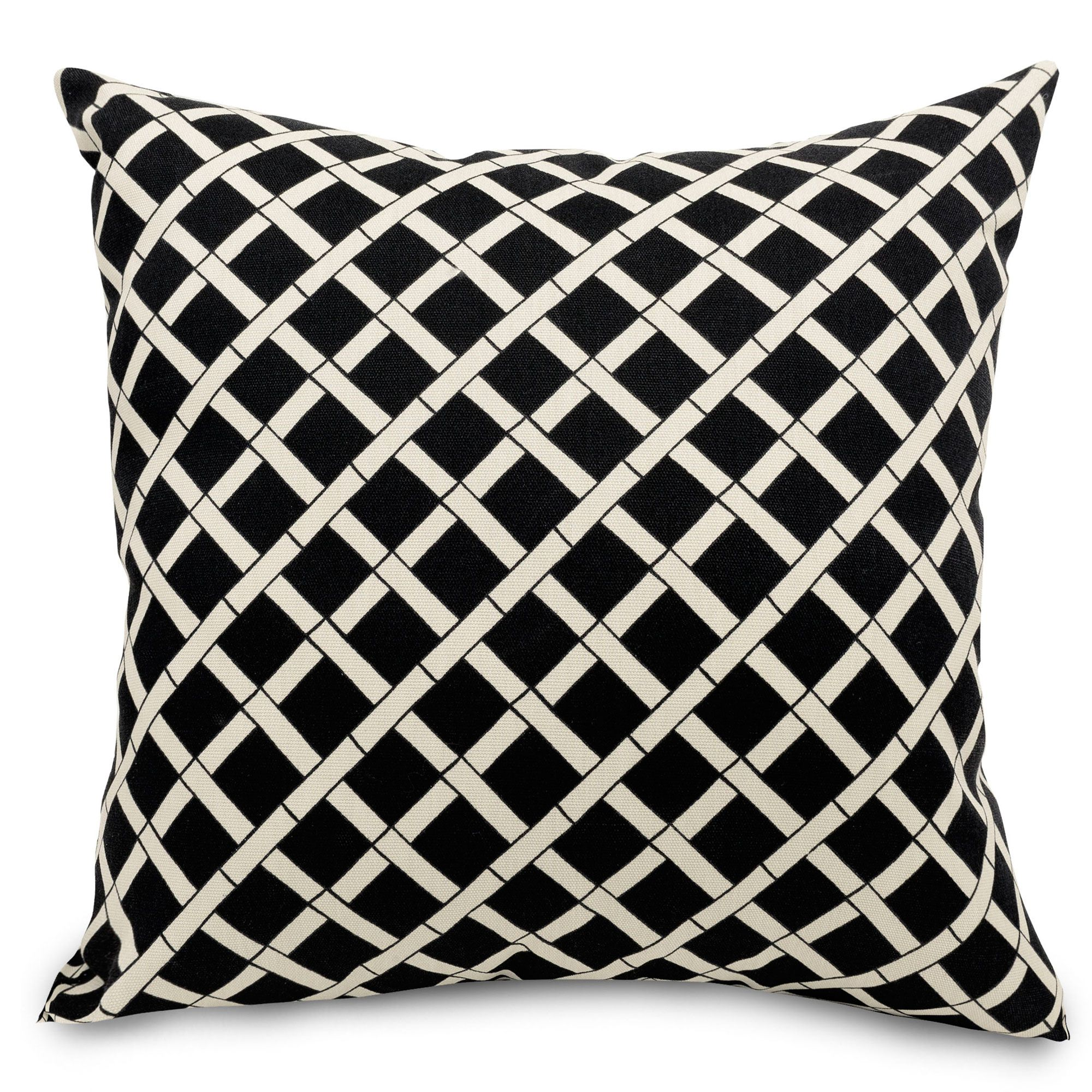 Shop Black Bamboo Outdoor Pillow Majestic Home Goods