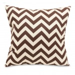 Chocolate Zig Zag Large Outdoor Pillow