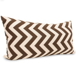 Chocolate Zig Zag Small Outdoor Pillow