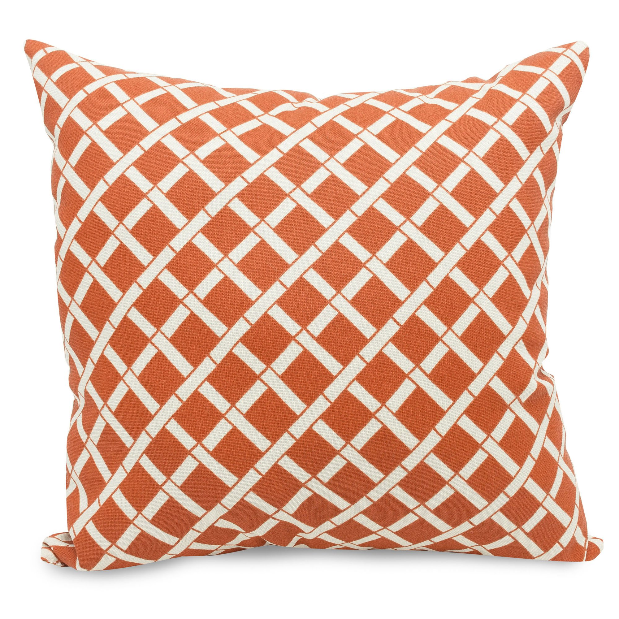large outdoor pillows. Burnt Orange Bamboo Large Outdoor Pillow Pillows