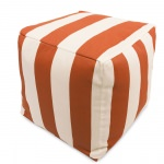 Burnt Orange Vertical Stripe Small Outdoor Cube